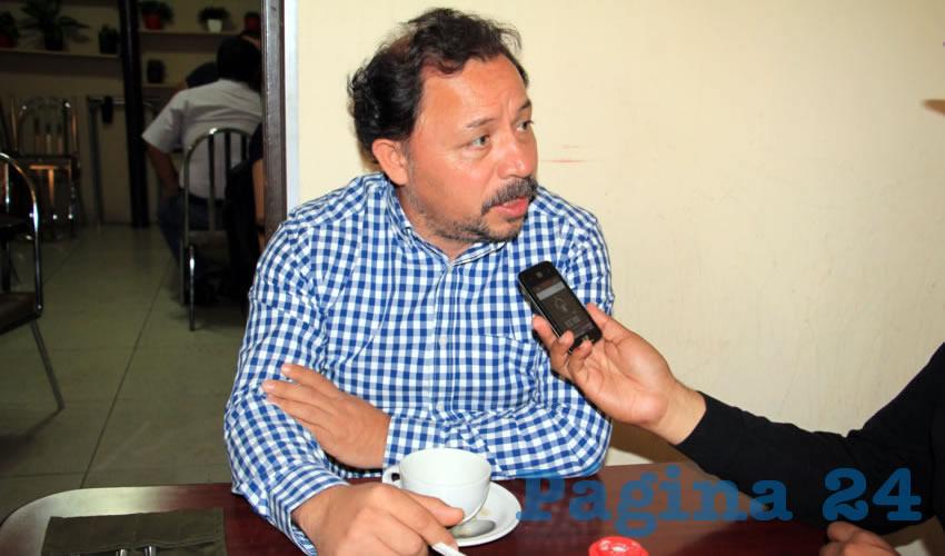 Alejandro Rivera Nieto, secretario general del Sindicato Independiente de los Trabajadores del Estado de Zacatecas (Sitez) (Foto: Archivo Página 24)