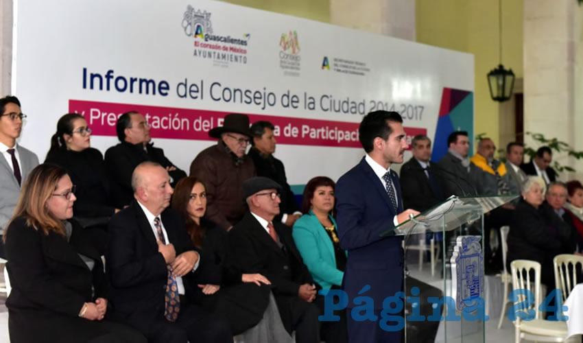 Rindió Tercer Informe de Actividades el Consejo de la Ciudad de Aguascalientes