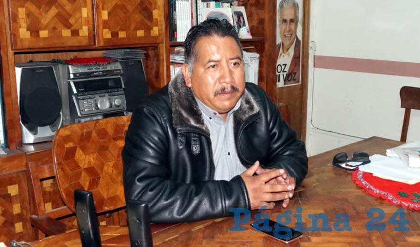 Felipe Pinedo Hernández, integrante del Frente Popular de Lucha de Zacatecas (FPLZ) (Foto Merari Martínez Castro)