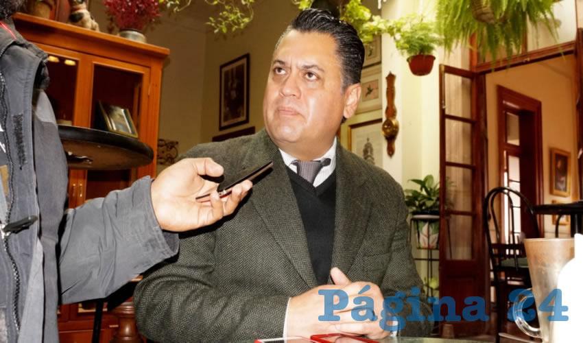Juan Carlos Pérez Frías, delegado en el estado de Zacatecas de la Secretaría de Economía (Foto Merari Martínez Castro)