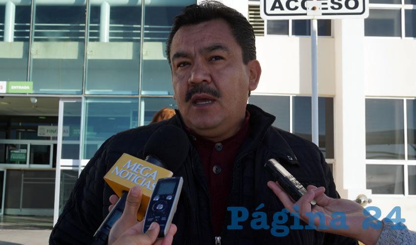 Gonzalo Franco Garduño, dirigente del Sindicato Único de Trabajadores de la Universidad Tecnológica del Estado de Zacatecas (Sututez) (Foto Merari Martínez Castro)