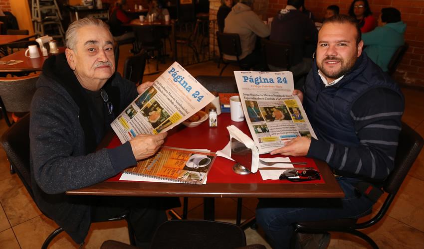 En Las Antorchas almorzaron José de Jesús Jiménez Rivera y Alfonso Stallworth Sánchez