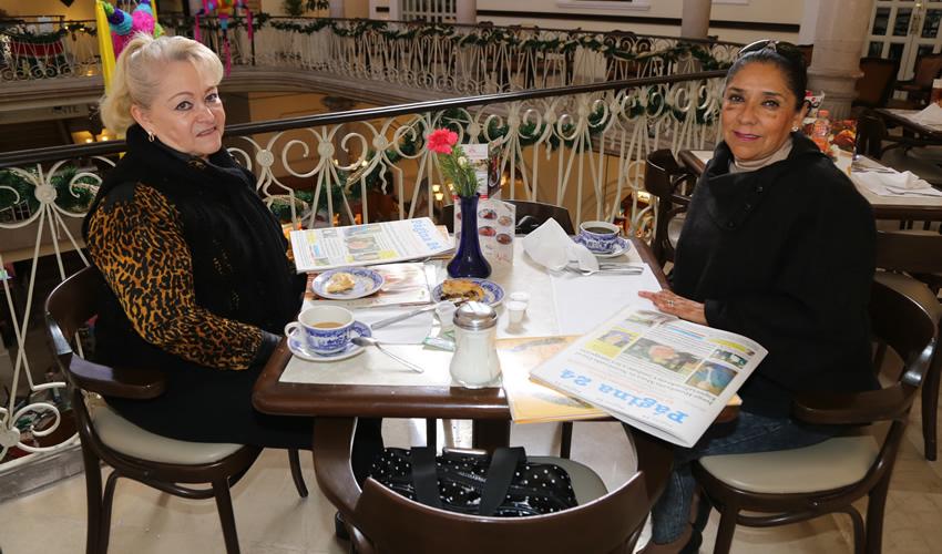En Sanborns Francia departieron Margarita Sánchez Ríos y Malena Romero Oceguera