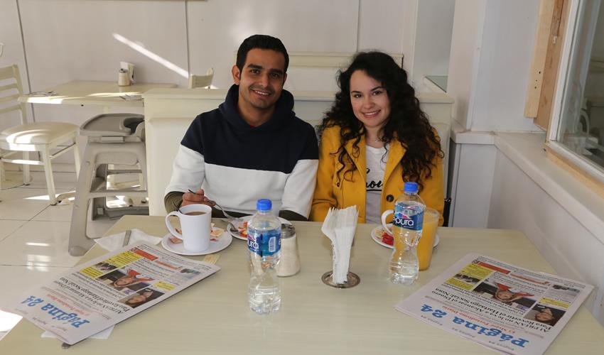 En el restaurante Del Centro almorzaron David Hernández Villegas y Karla Acevedo Aviña