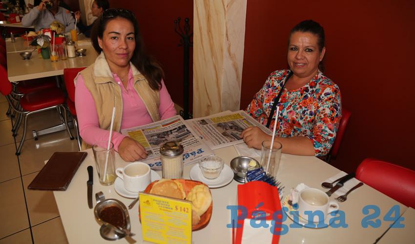 En el restaurante Mitla compartieron el pan y la sal Sandra Macías Ramírez y Patricia Dávalos Miranda
