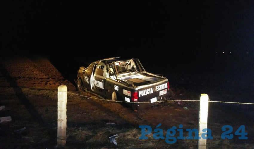Se Accidentan Cuatro Policías Estatales de la Patrulla 543