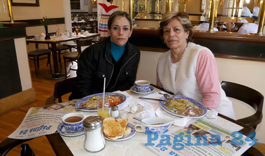 En Sanborns Francia compartieron el pan y la sal Lorena Gómez Soto y Lourdes del Rosario Soto Ulloa