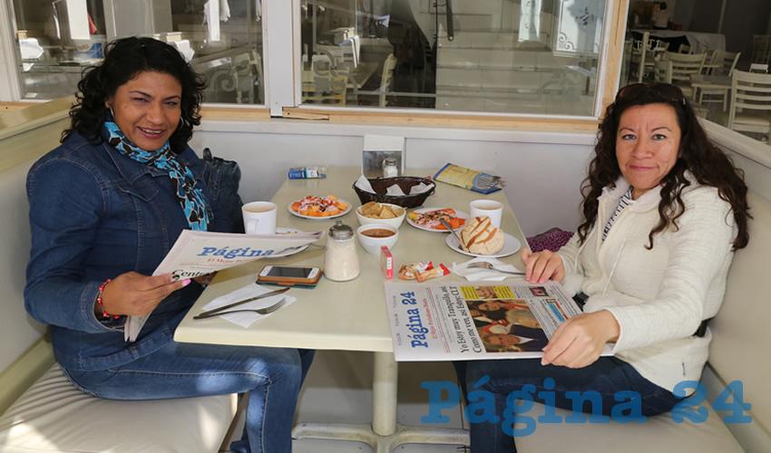 En el restaurante Del Centro almorzaron Lucía Gómez Castillo y Laura Córdoba Muñoz