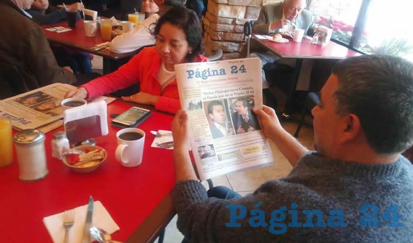 Rosa María Ramírez y Rogelio Hernández compartieron el pan y la sal en el restaurante Las Antorchas