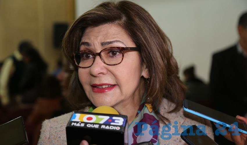 Angélica de la Peña Gómez, senadora de la República (Foto: Eddylberto Luévano Santillán)