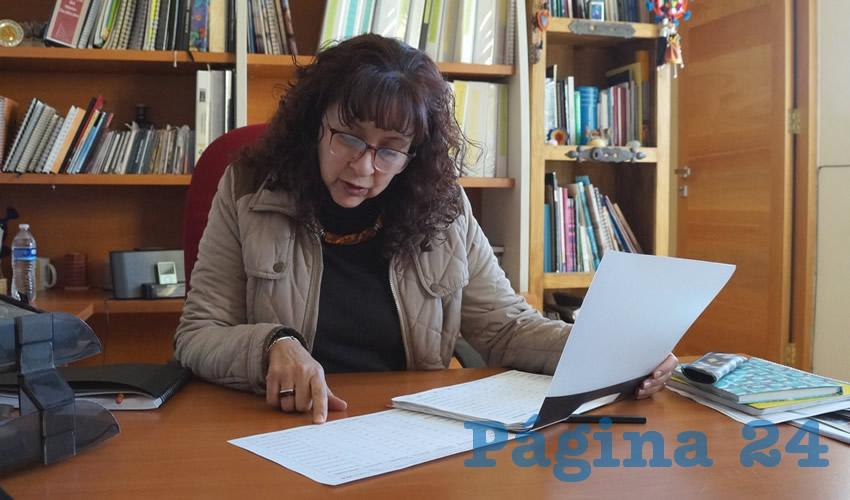 Julieta Medina Briones, directora del Museo Zacatecano (Foto Merari Martínez Castro)
