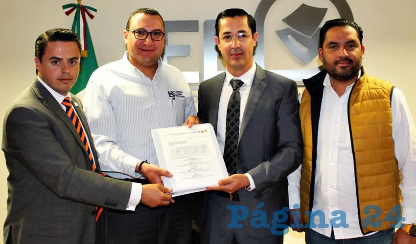 Registraron PAN-PRD-MC la Coalición Por Aguascalientes al Frente Ante el IEE
