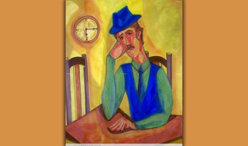 Hombre y reloj, Federico Sequeira