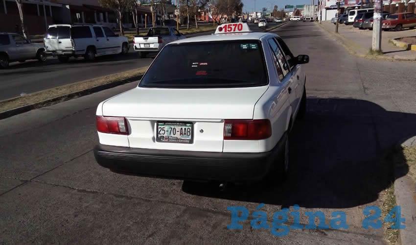 El taxi 1570, que manejaba Jorge Mario García Estrada