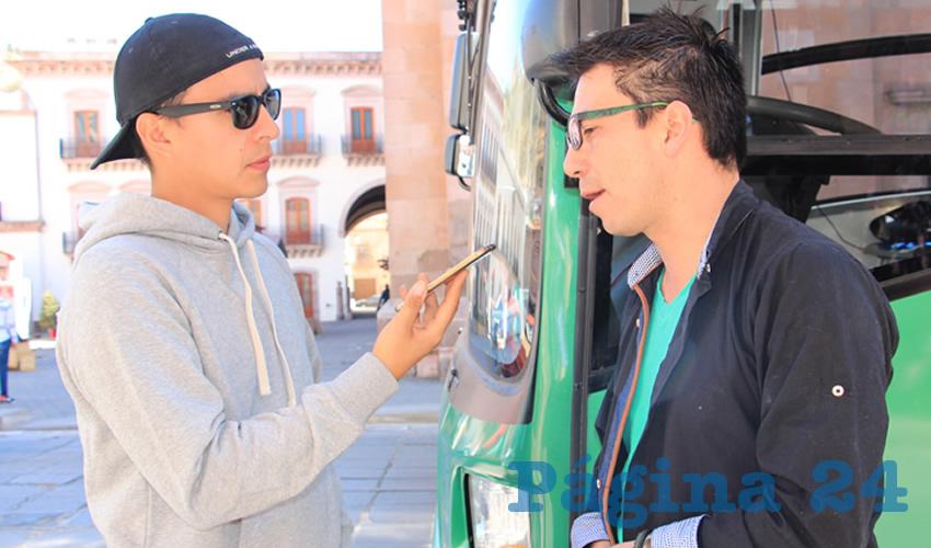 """Emmanuel Fandiño Arzate: """"Espero que de verdad se termine todo lo que se tenga que hacer en Tacuba, termine, así puedan comenzar lo antes posible en la avenida Hidalgo y no afecte la temporada alta que es la de festivales en Zacatecas"""" (Foto: Rocío Castro Alvarado)"""