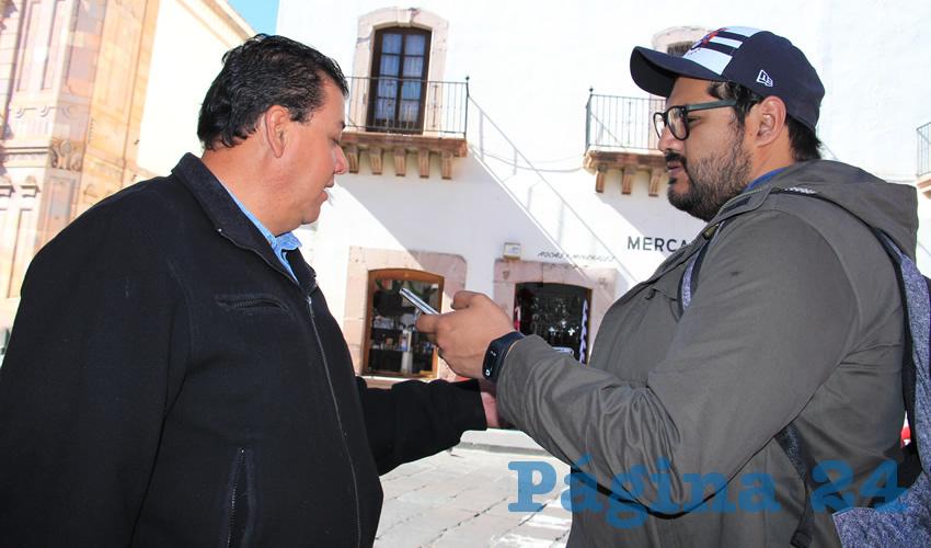 Fernando Galván Martínez, líder de la corriente perredista Galileos, e integrante de organizaciones campesinas de la zona norte de Zacatecas (Foto Rocío Castro Alvarado)