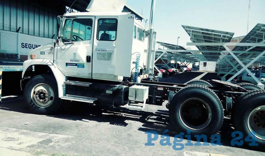 Incorpora la SSMAA a la Estación de Transferencia de Asientos un Camión