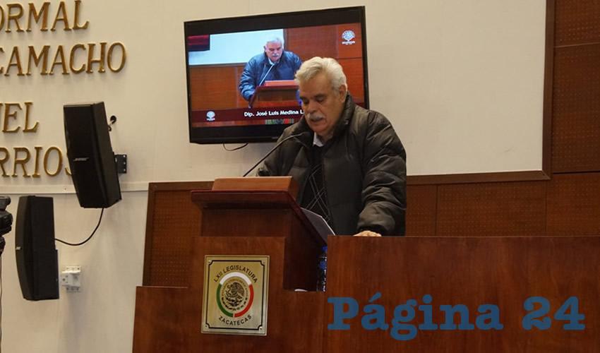 José Luis Medina Lizalde, diputado local por Movimiento de Regeneración Nacional (Morena) (Foto Merari Martínez Castro)