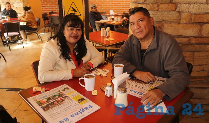 En Las Antorchas almorzaron Yadira Landeros Lomelí y Mario Humberto Santillán Chía