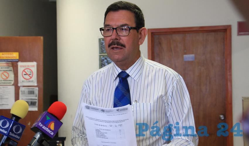 Juan José Rangel Martínez, director de Seguridad Pública Municipal de la capital (Foto Rocío Castro Alvarado)