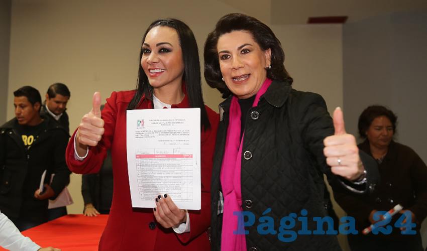 Citlalli Rodríguez González, diputada local, y Lorena Martínez Rodríguez, precandidata al Senado de la República