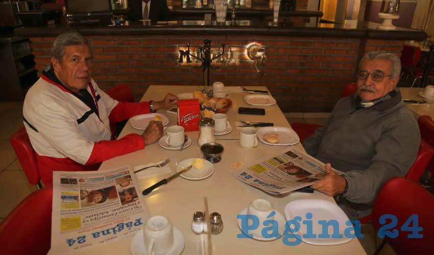 En el Mitla almorzaron Enrique Amador Díaz y Luis López Villanueva