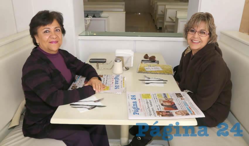 En el restaurante Del Centro desayunaron Alicia Suárez Garibay y Martha Estela de Loera Hernández