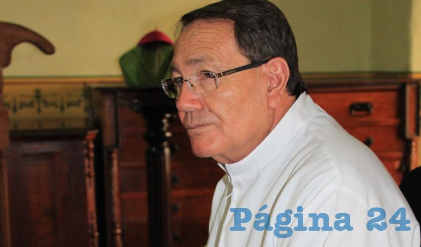 Sigifredo Noriega Barceló,obispo de la Diócesis de Zacatecas (Foto: Rocío Castro Alvarado)