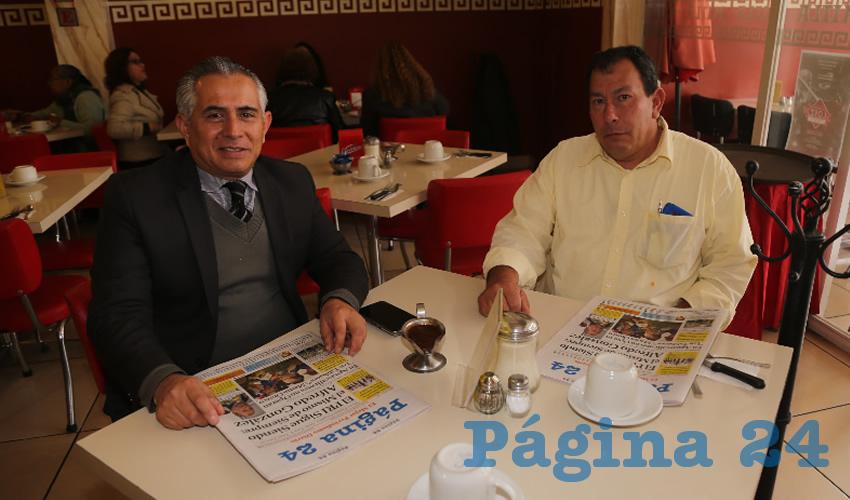En el restaurante Mitla desayunaron Uriel Gerardo Gómez Trusselle y Sandor Hernández Alba
