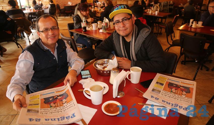 En Las Antorchas almorzaron Jorge Campos Espino y José Miguel Alcántara