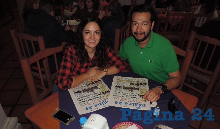 Diana Robles y Genaro García compartieron el pan y la sal en el restaurante La Mestiza
