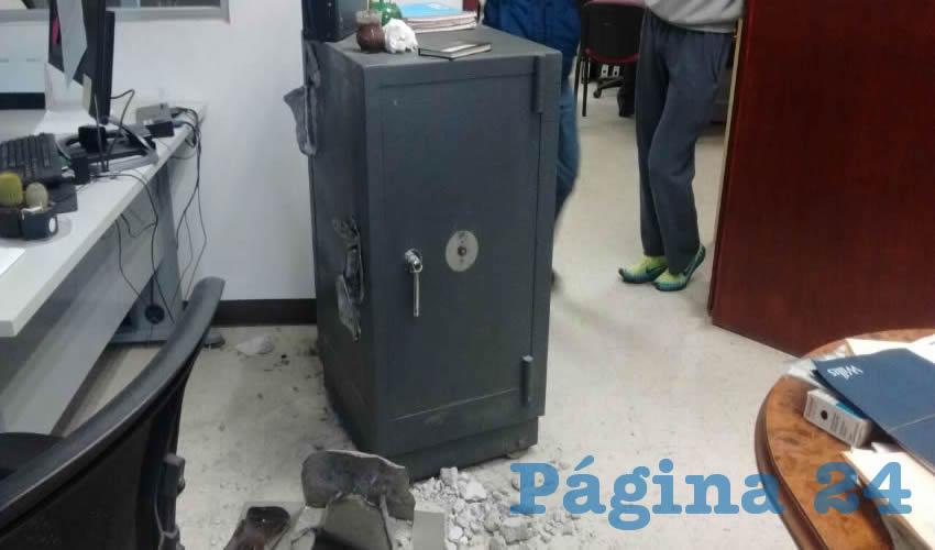 Los vigilantes privados extrajeron el dinero de una caja fuerte, en una empresa situada en el Parque Industrial del Valle de Aguascalientes