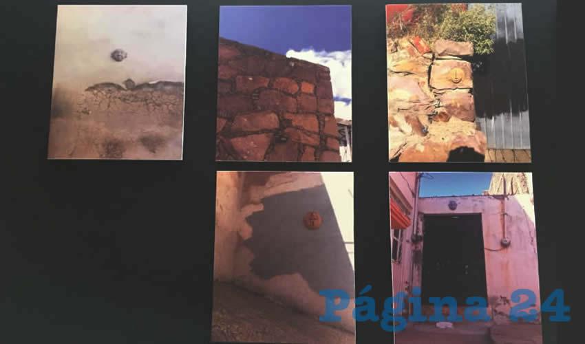 Las fotografías muestran que esta cultura, se puede encontrar en diversos puntos, específicamente en diversos municipios del estado de Zacatecas, los cuales están plasmados en una fotografía (Foto: Rocío Castro Alvarado)