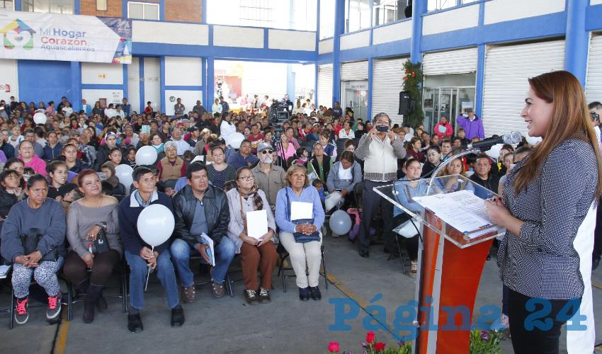 La presidenta municipal reafirmó que seguirá trabajando por la igualdad y la justicia social