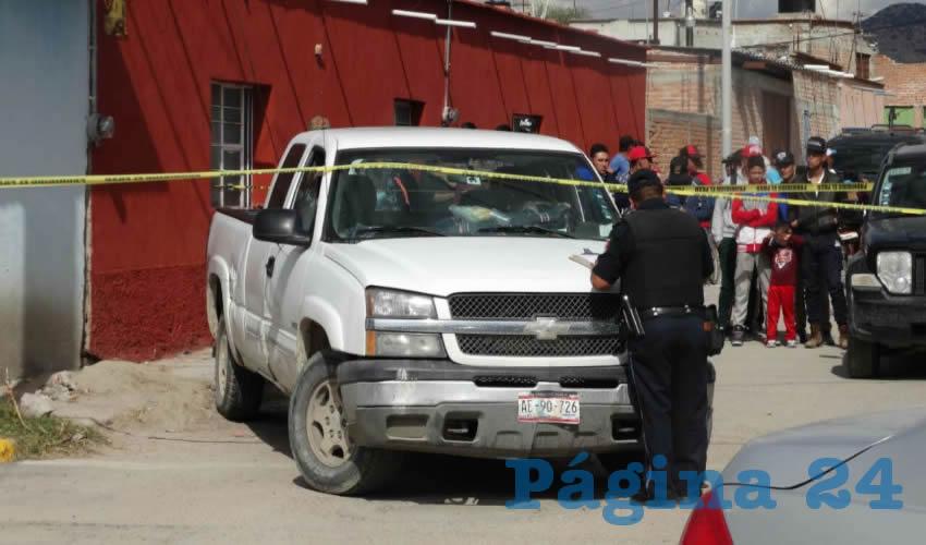 La camioneta que conducía el hoy homicida Antonio Esparza Macías