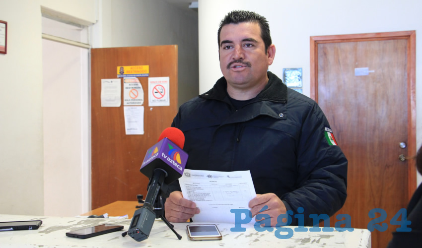 Juan José Ríos, comandante de la Policía Municipal de la capital (Foto Rocío Castro Alvarado)