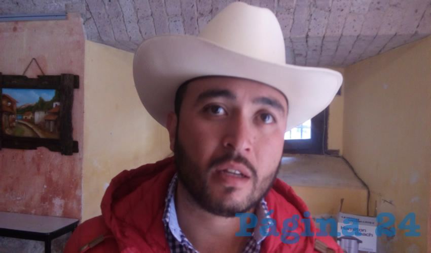 Eduardo García Ceceñas, presidente de la Vanguardia Juvenil Agrarista en el estado de Zacatecas