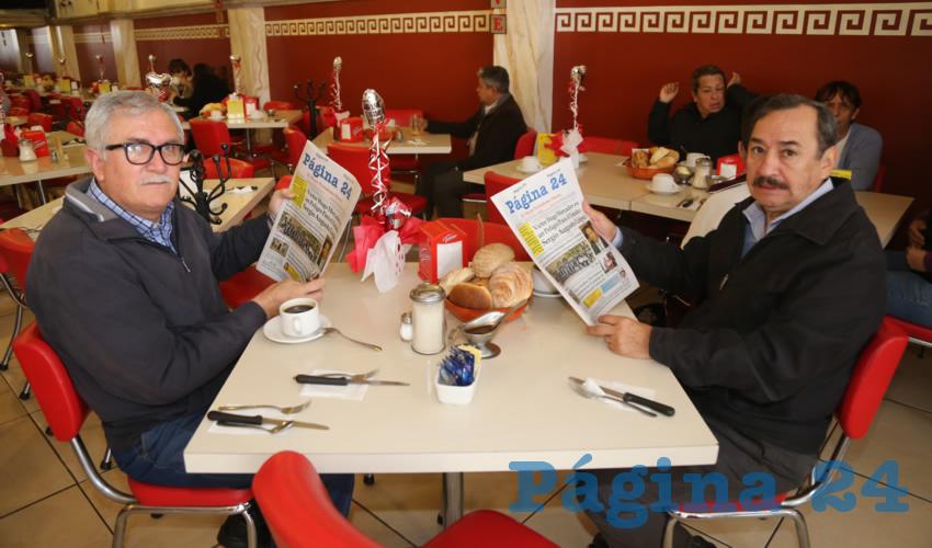 En el restaurante Mitla almorzaron Juan Carlos Gutiérrez Cabrero y Francisco Martínez Delgado