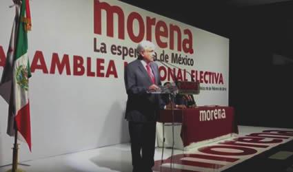 Discurso de AMLO en el Consejo Nacional de Morena