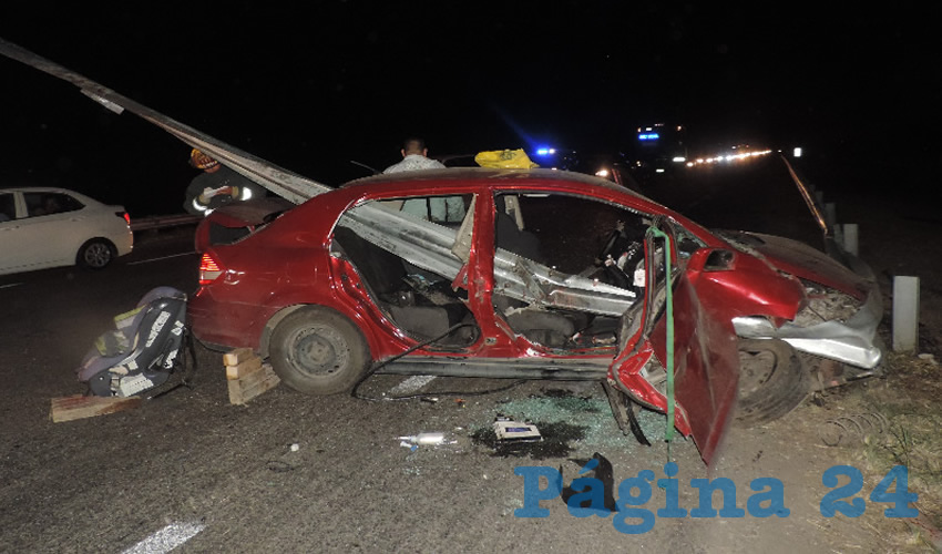 Los hechos ocurrieron anoche en la carretera federal 25, provocados por el ebrio Felipe de Jesús Mares