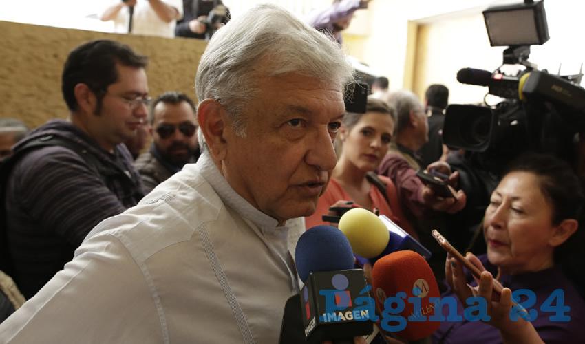 """Andrés Manuel López Obrador, candidato a la presidencia de la República por la coalición """"Juntos Haremos Historia"""": """"En Zacatecas estará la sede de Liconsa, y se reactivará la económica de la entidad"""" (Foto: Rocío Castro)"""