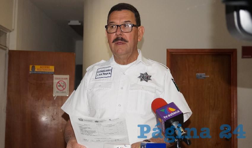 Juan José Rangel Martínez, comandante de la Dirección de Seguridad Pública Municipal: Reiteró que la población sigue sin tener confianza en los policías para que cuiden sus viviendas. (Foto: Merari Martínez Castro)