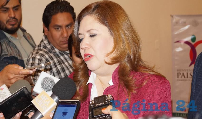 """Fabiola Gilda Torres Rodríguez, titular de la Secretaría General de Gobierno del Estado de Zacatecas: """"En ese tipo de acciones, vamos a estar trabajando a través del Consejo Estatal de Prevención de Adicciones, vamos a estar trabajando con la Secretaría de Salubridad y con la de Educación"""". (Foto: Merari Martínez Castro)"""