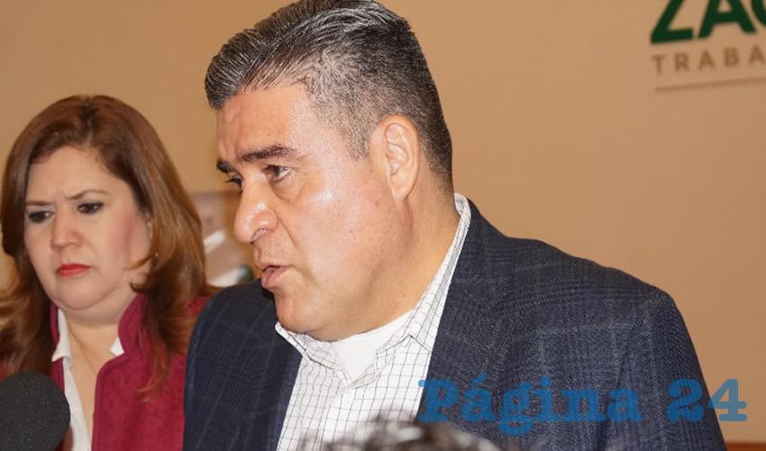 """Ismael Camberos Hernández, titular de la Secretaría de Seguridad Pública (SSP) en el estado de Zacatecas: """"El policía está en control de detención, el juez va a determinar si procede o no la detención, nosotros tenemos que partir del principio de presunción de inocencia"""". (Foto: Merari Martínez Castro)"""