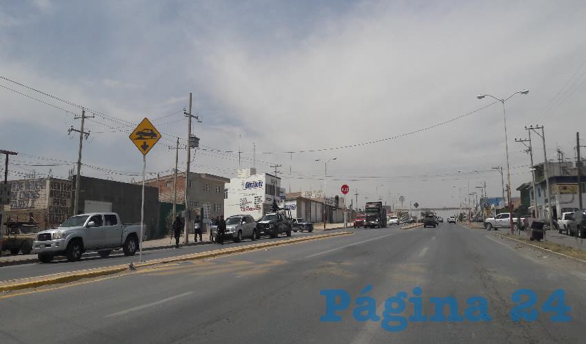 """Movilización policíaca en las inmediaciones del fraccionamiento """"Los Balcones"""""""
