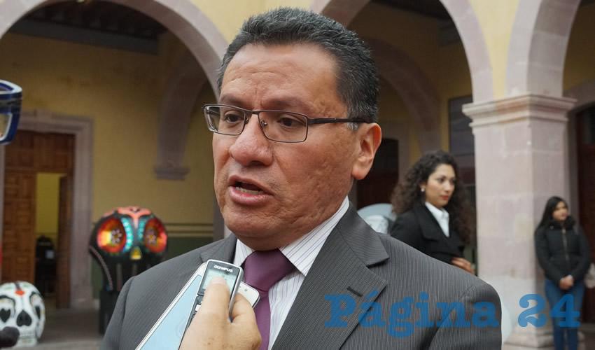 Armando Ávalos Arellano, magistrado presidente del Tribunal Superior de Justicia del Estado de Zacatecas (TSJEZ)