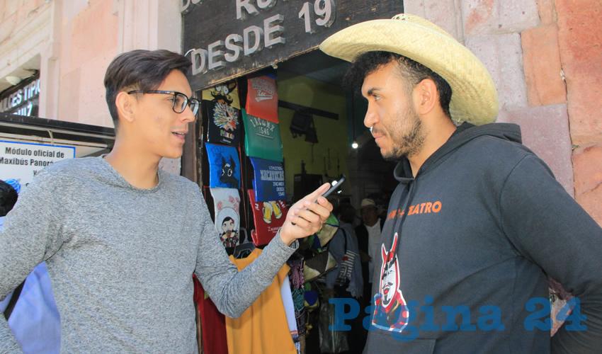 Alberto Lozano, prestador de servicios turísticos (Foto Rocío Castro Alvarado)
