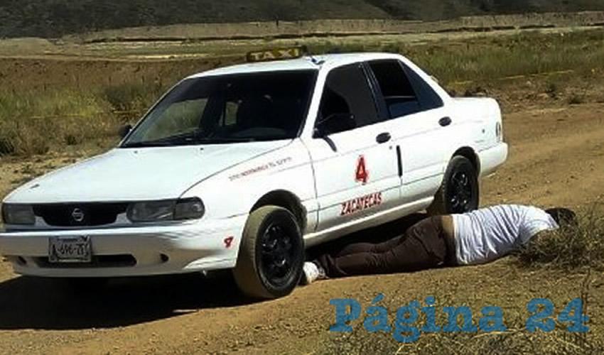 """Otro taxista asesinado en el """"Estado Fallido"""" de Zacatecas; la gente comienza a gritar """"¡Tello, ya vete!"""" (Foto: Cortesía)"""