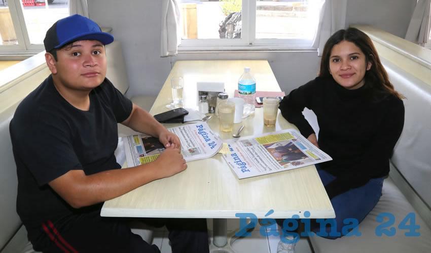 En el restaurante Del Centro almorzaron Emiliano Ortiz Mora y Marisa Ortiz Mora