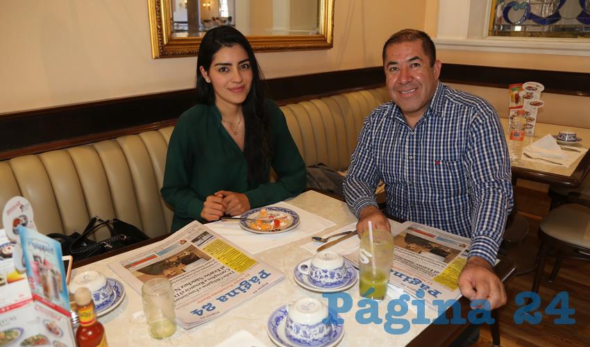 Desayunaron en Sanborns Francia Grecia Colón Quiroz y Sergio Loera Pérez